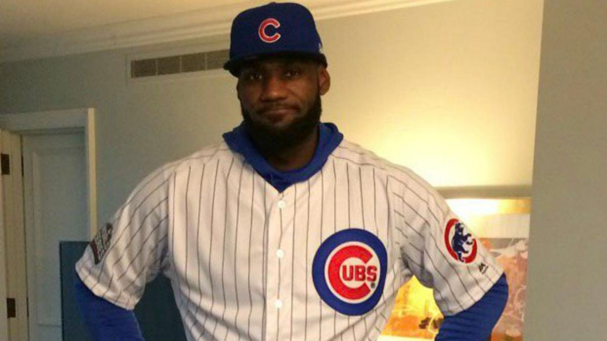 LeBron James wears Cubs uniform to pay off World Series bet with ...