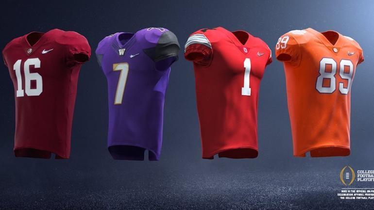 Nike uniforms for College Football Playoff: Alabama, Clemson, Ohio State, Washington