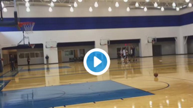Russell Westbrook runs off court after winning shooting ...
