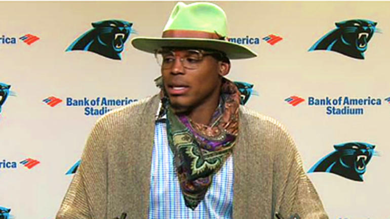 LOOK: Cam Newton's postgame attire is promptly mocked on Twitter - CBSSports.com
