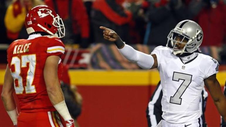 best service 0f813 d4b1e Marquette King, Travis Kelce meet again at Pro Bowl ...