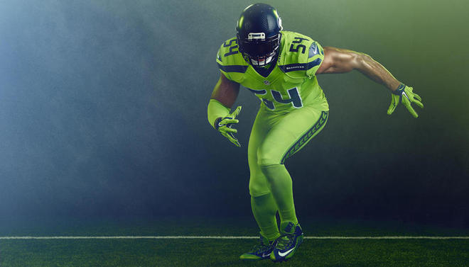 25740cc05c9 Color Rush: Here are the Seahawks' and Rams' wild uniforms for ...