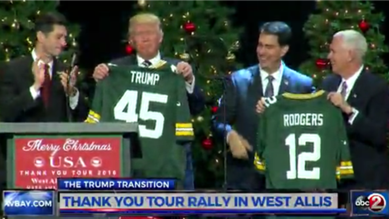 WATCH: Donald Trump receives customized Packers jersey ...