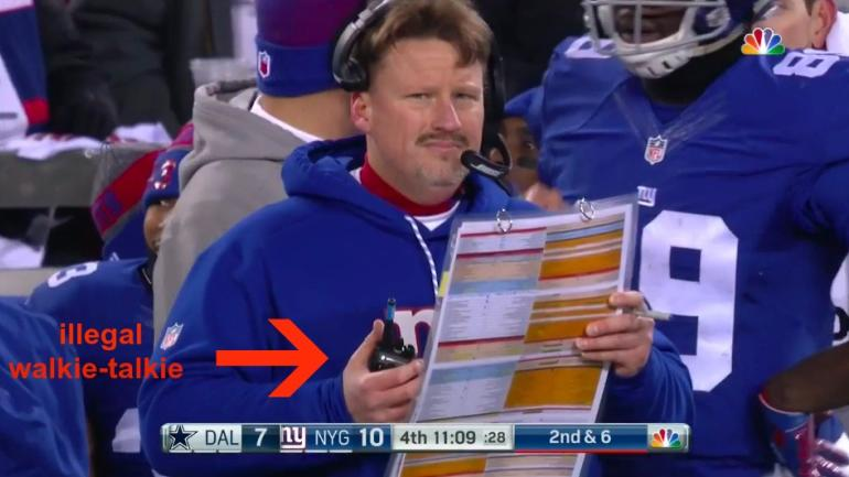 Giants, Ben McAdoo fined a combined $200K for illegal use of walkie-talkie