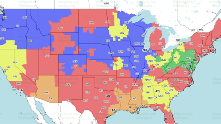 Baltimore Ravens Map Baltimore Ravens vs. Philadelphia Eagles Week 15 coverage map