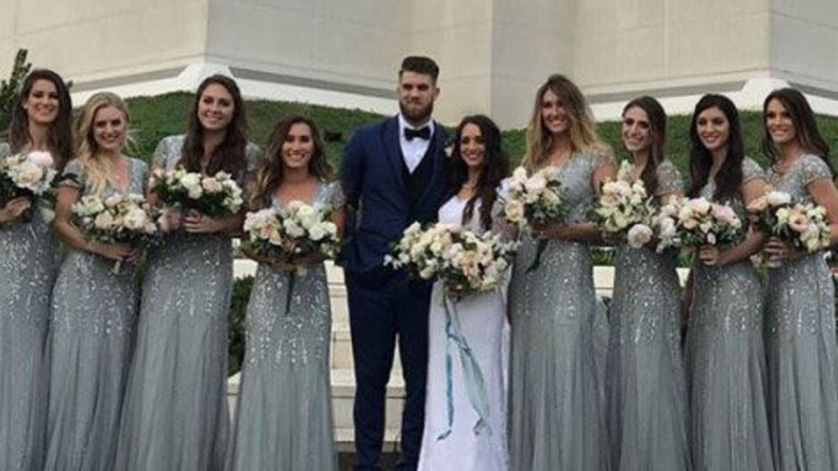Bryce Harper Wedding.Look Bryce Harper Got Married To His Longtime Girlfriend Over The
