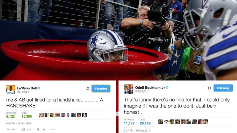 Le'Veon Bell calls out the NFL for not fining Ezekiel ...