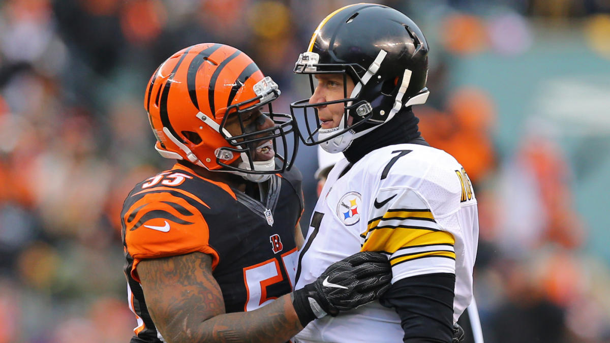 sale retailer add4d 63e6a Vontaze Burfict appears to kick Steelers player in the head ...