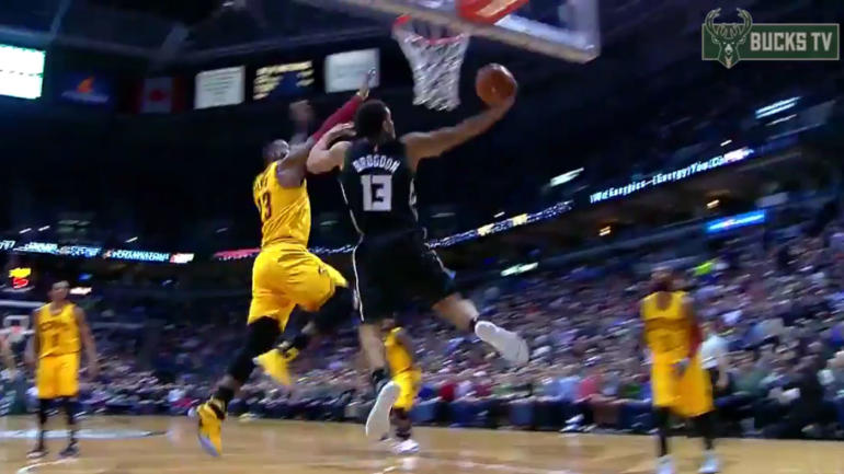220963832f27 WATCH  Bucks rookie puts LeBron James