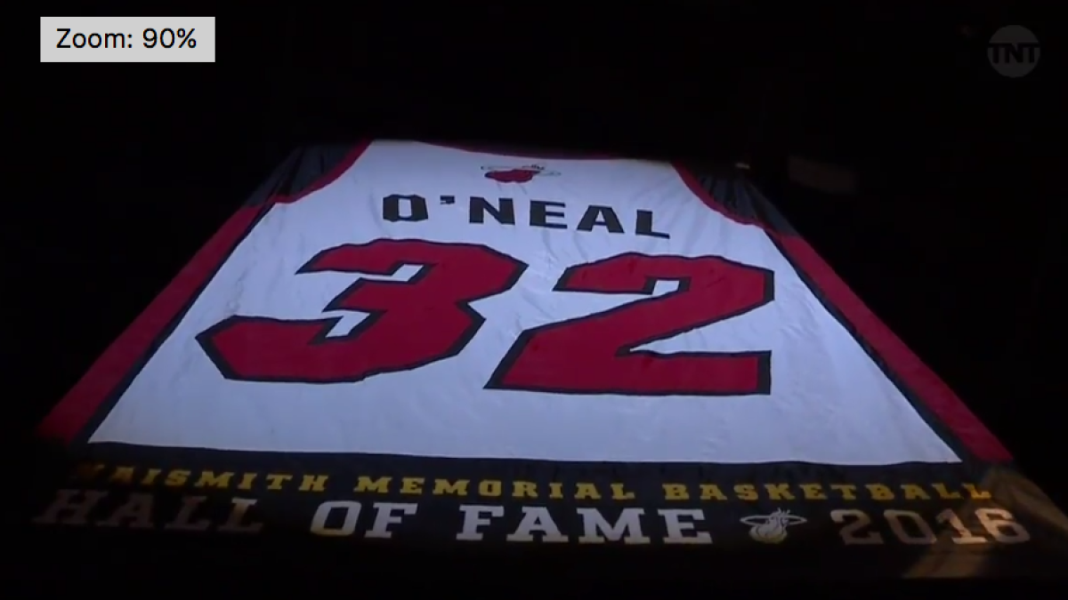 e07ca8b85ac WATCH: Highlights of Shaquille O'Neal's Miami Heat jersey retirement -  CBSSports.com