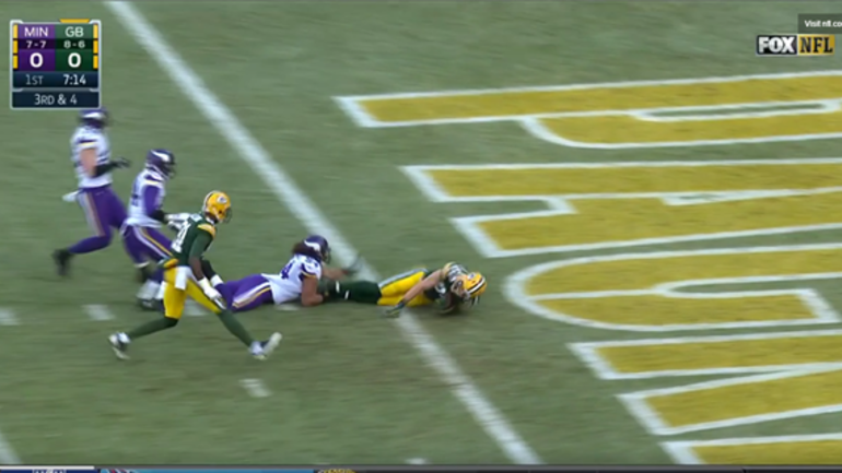 679ef709 Aaron Rodgers throws 21-yard TD pass to Jordy Nelson vs. Vikings ...