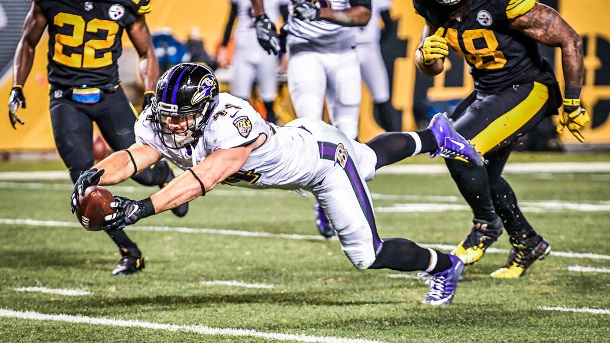 Did the Ravens' Kyle Juszczyk score with too much time left against the Steelers?