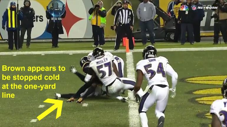 Ravens-Steelers highlights: Antonio Brown scores nearly ...