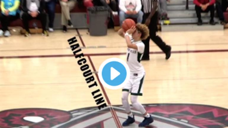 Watch: UCLA commit LaMelo Ball calls halfcourt jumper ...