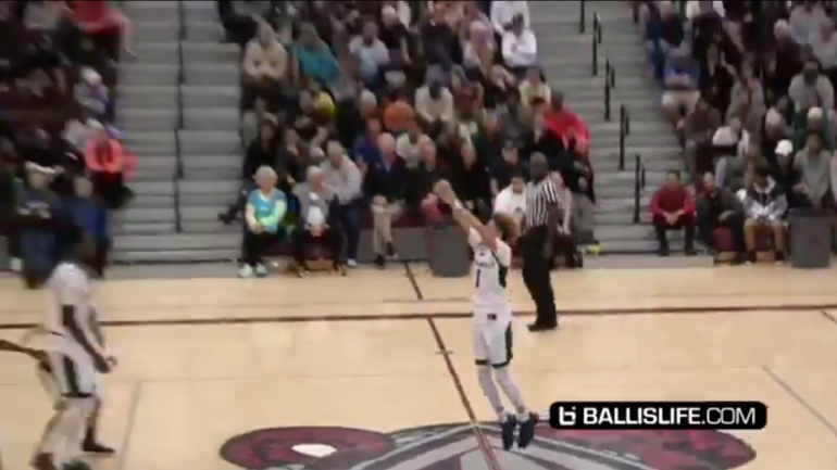 WATCH: UCLA recruit LaMelo Ball calls halfcourt shot and ...