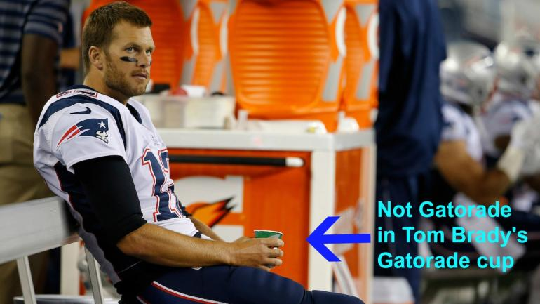 Tom Brady doesn't drink Gatorade on the sideline, he ...