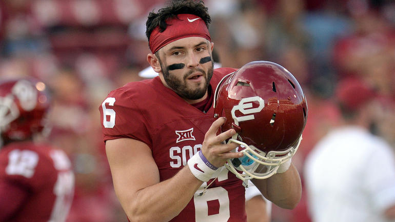 College Bowl Schedule 2017 >> Oklahoma star QB Baker Mayfield charged with public intoxication, resisting arrest - CBSSports.com