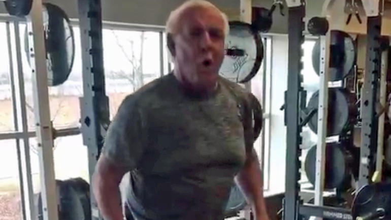 ric flair awake and progressing after surgery cuts promo on nurse