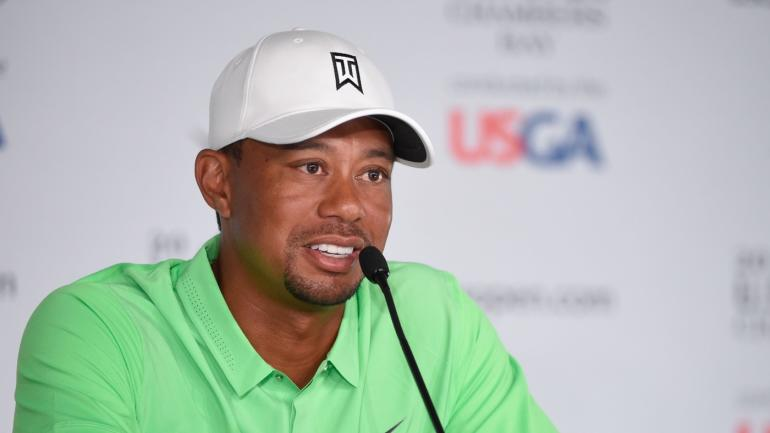 Tiger Woods talks golf with Donald Trump, 'Make Tiger Great Again' shirts