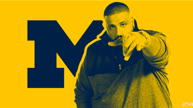 898cf0fe5679 Nike gifts DJ Khaled pair of Michigan Jordan Retro V sneakers ...