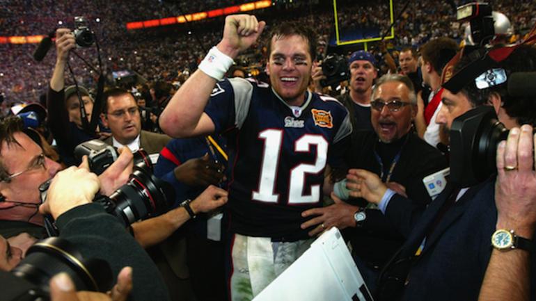 Tom Brady after winning Super Bowl XXXVIII in Houston - CBSSports.com e41100b79
