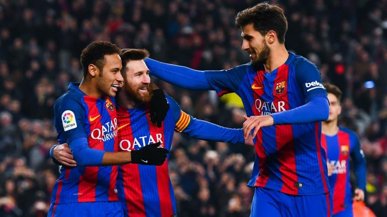 barcelona lionel messi now know who theyull play in the copa del rey final in may