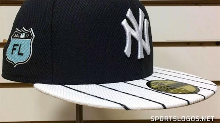 LOOK  Yankees  new Spring Training hat leaked and it has pinstripes -  CBSSports.com f2b7ffaceeb