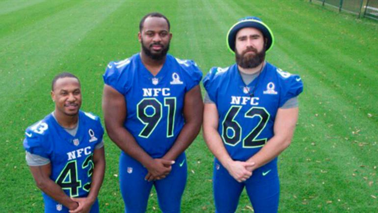 4e5a7e992ff LOOK: Eagles sporting their NFC Pro Bowl uniforms. Darren Sproles ...