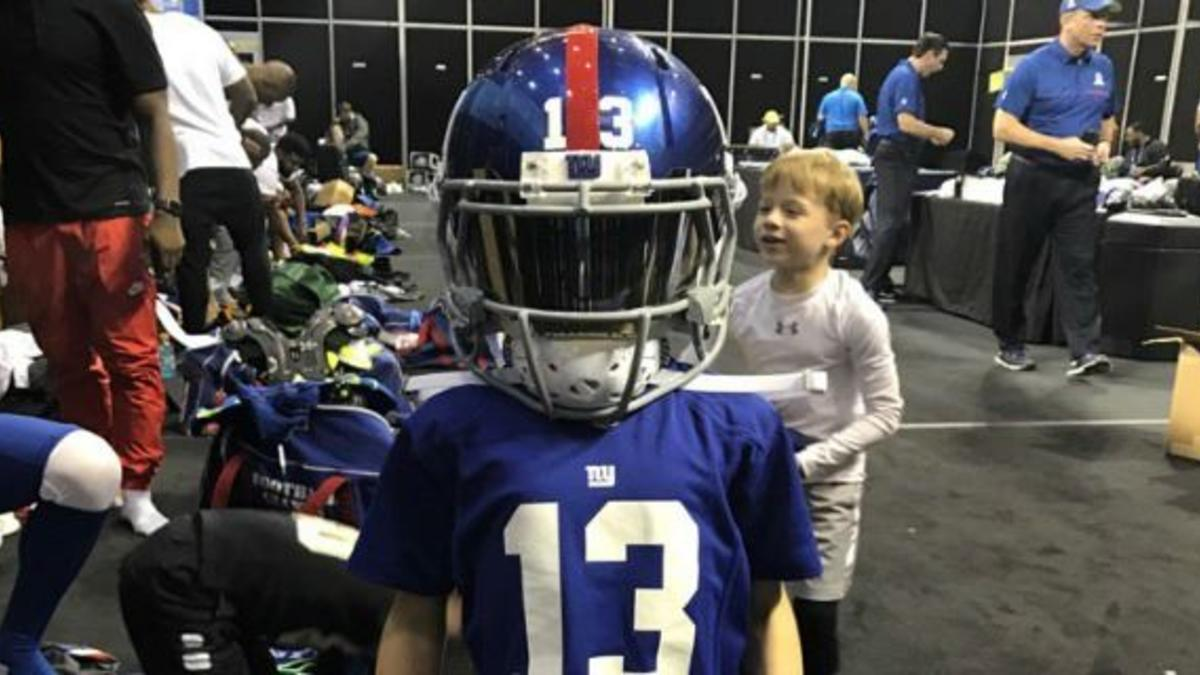 official photos 7a66c b0a9e LOOK: Drew Brees' son wears Odell Beckham Jr.'s Pro Bowl ...