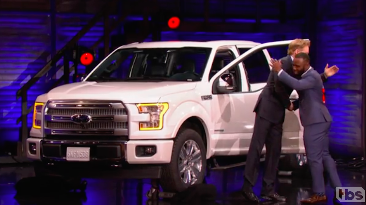 Watch Conan Gives James White The Truck That Super Bowl Mvp Tom Brady Couldn T Cbssports Com