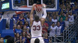 Kansas forces crucial turnover leading to put-back dunk
