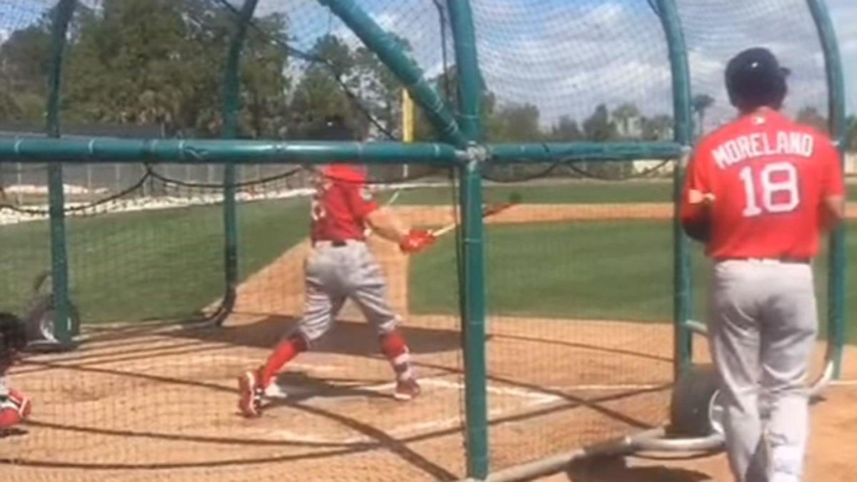 WATCH: Andrew Benintendi calls his shot off Red Sox teammate Brian Johnson