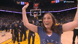 WATCH: Warriors fan wins $5,000 thanks to an assist by Steph Curry