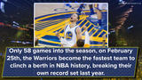 Golden State clinches playoff berth, another record