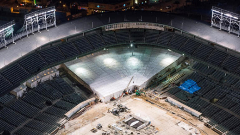 LOOK: Wrigley Field renovations still ongoing with start of season ...