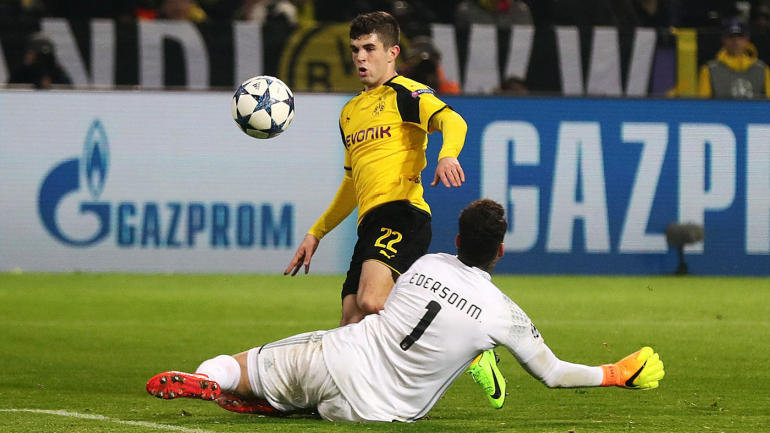 borussia dortmund highlights american pulisic scores first champions league goal. Black Bedroom Furniture Sets. Home Design Ideas