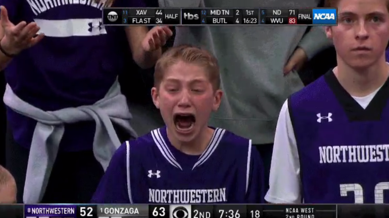WATCH Crying Northwestern Fan In Total Anguish After A