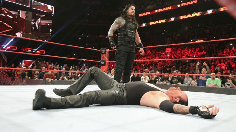 wwe raw results review reigns spears undertaker but show grades