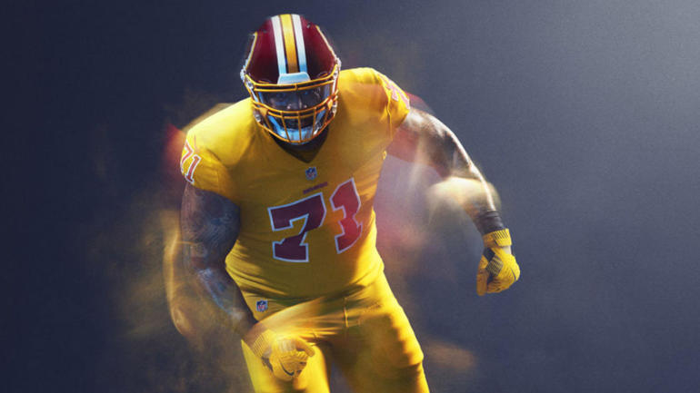57fbbb8e5 Redskins propose rule to not wear  Color Rush  uniform because it s   garish  - CBSSports.com