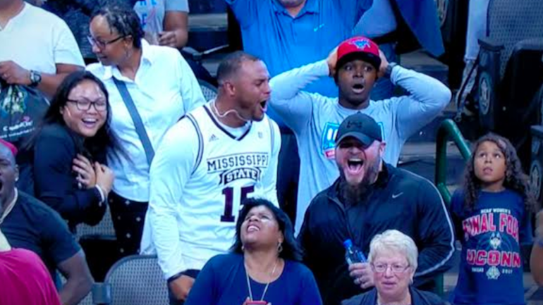 LOOK: Dak Prescott goes nuts after Mississippi State stuns UConn in Final Four - CBSSports.com