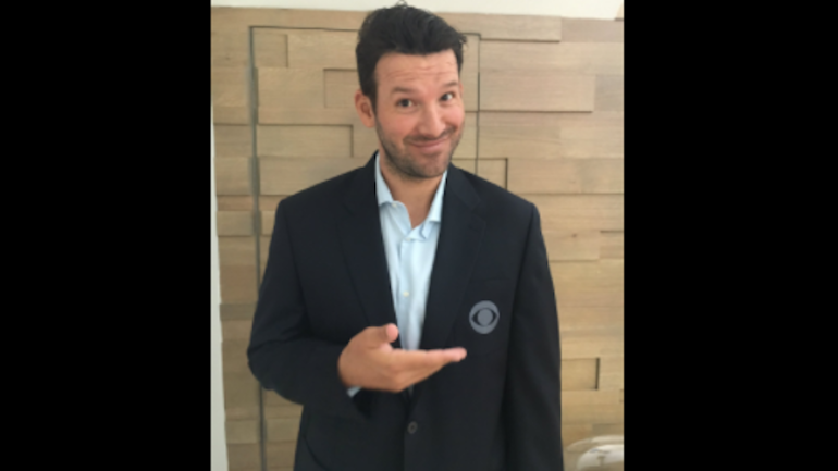 tony romo officially joins cbs sports as lead nfl game