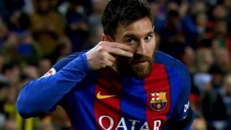 LOOK: Barcelona star Messi's curious celebration was a ...