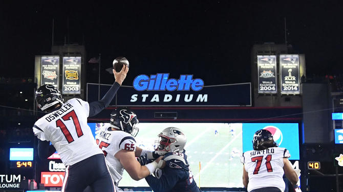 d2b4b0a70d9ab patriots-banner-problems-new.jpg. The scoreboard and banners at Gillette  Stadium.