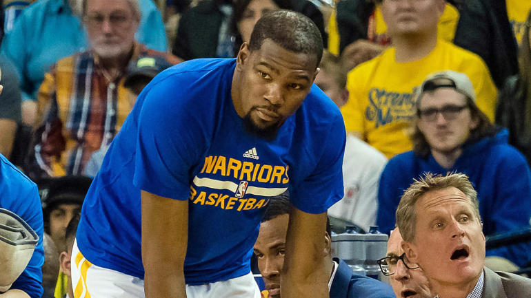 69255c346562 NBA Playoffs 2017  Warriors rule out Kevin Durant for Game 2 against Blazers  - CBSSports.com