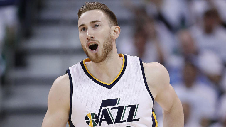 721fd2691 LOOK  Heat deck out arena with Gordon Hayward poster prior to free agent  meeting - CBSSports.com