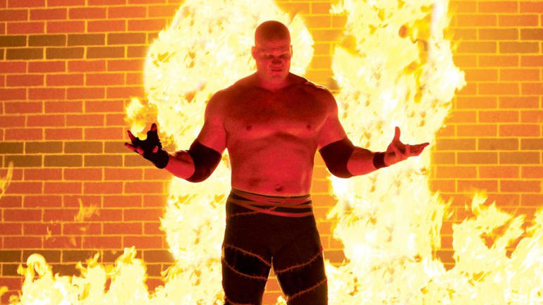 look you must see wwe wrestler kanes firethemed mayoral