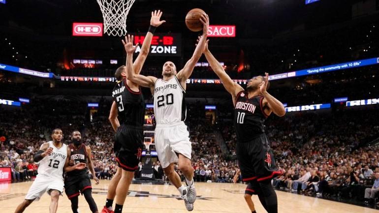 f9372577cceb Rockets-Spurs highlight  Manu Ginobili caps off vintage Game 5 with game-saving  block - CBSSports.com