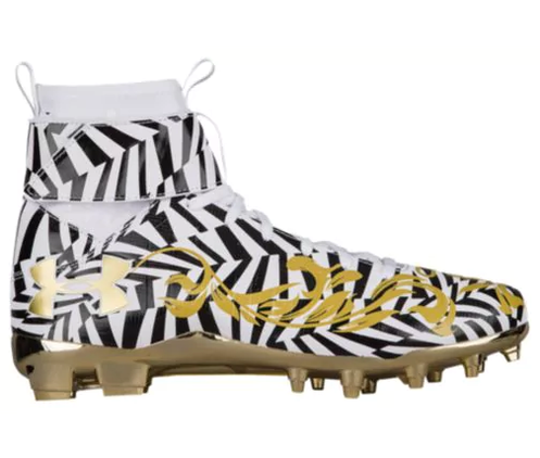 size 40 1d4a4 478aa Cam Newton's wild pregame cleats on sale for $300 less than ...
