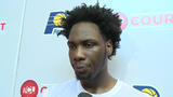 Purdue's Caleb Swanigan works out for the Indiana Pacers