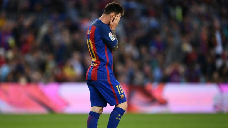 barcelona eibar off day for messi barca loses out on la liga title to real madrid